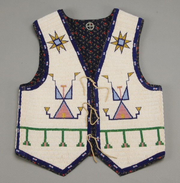 177: Early 20th c. Native American beaded vest