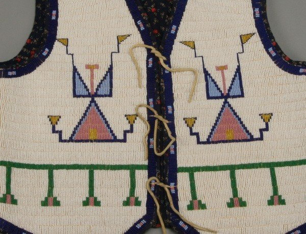 177: Early 20th c. Native American beaded vest - 2
