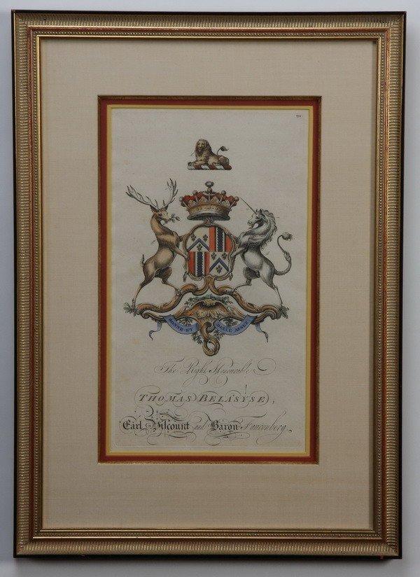 2: (3) 19th c. royal crest engravings