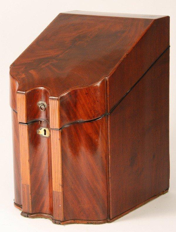 10: 19th c. English walnut knife case