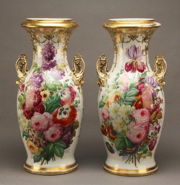 13: (2) 19th c. English porcelain vases