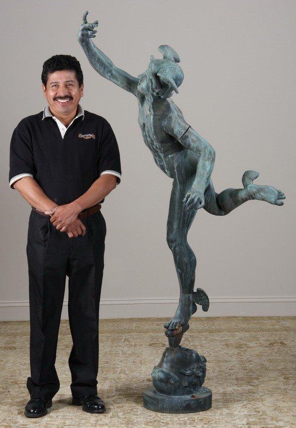 15: 19th c. Italian bronze sculpture of Mercury