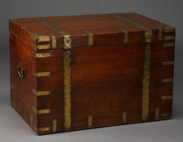 16: 19th c. British campaign trunk