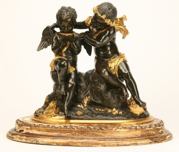 20: Early 20th c. bronze figural sculpture