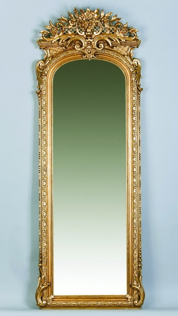 23: 19th c. carved giltwood pier mirror