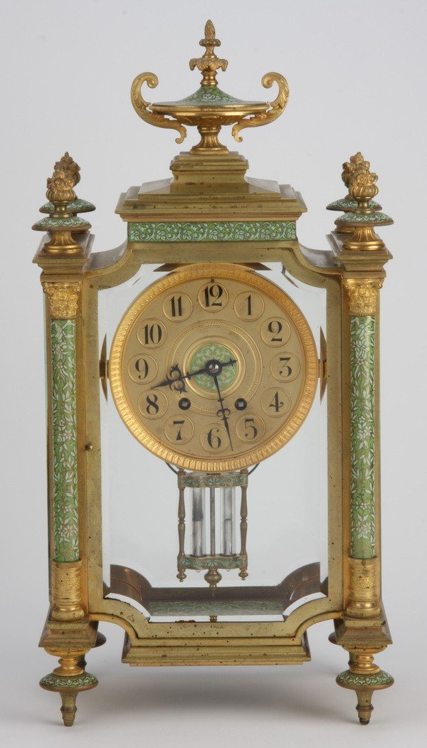 15: Oversized 19th c. champleve' and bronze clock