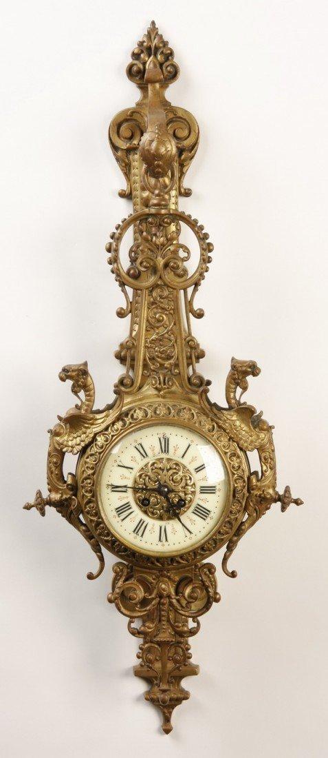 17: 19th c. French gilt bronze cartel clock