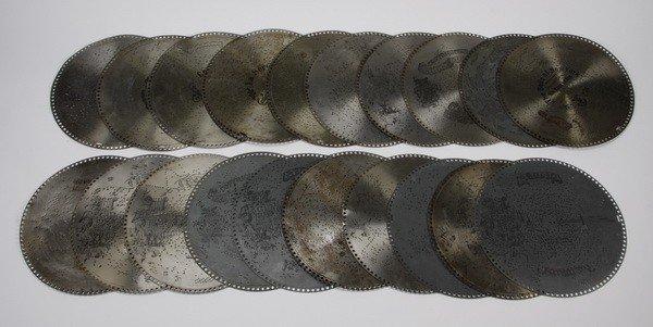 """19: (20) Assorted 15.5"""" music discs"""