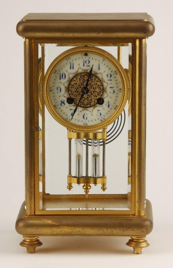 24: 19th c. French crystal regulator clock