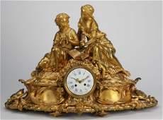 149: Monumental 19th c. bronze figural clock