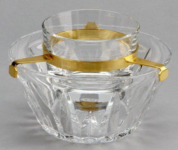 2: Baccarat crystal caviar serving dish