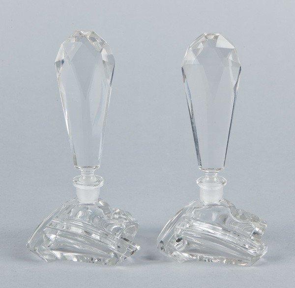 4: (2) Baccarat crystal perfume bottles, marked