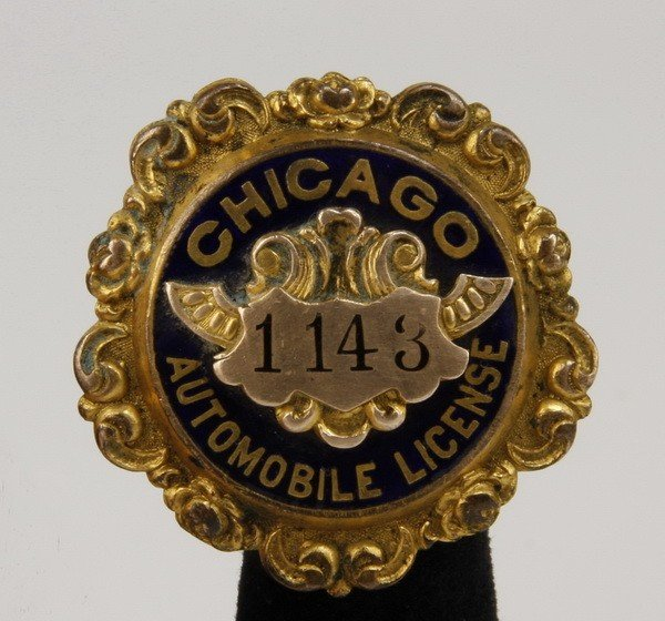 9: Rare original 1901 Chicago driver's license