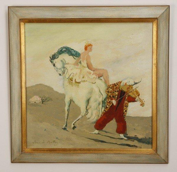 19: Mid 20th c. oil on canvas, signed de Botton