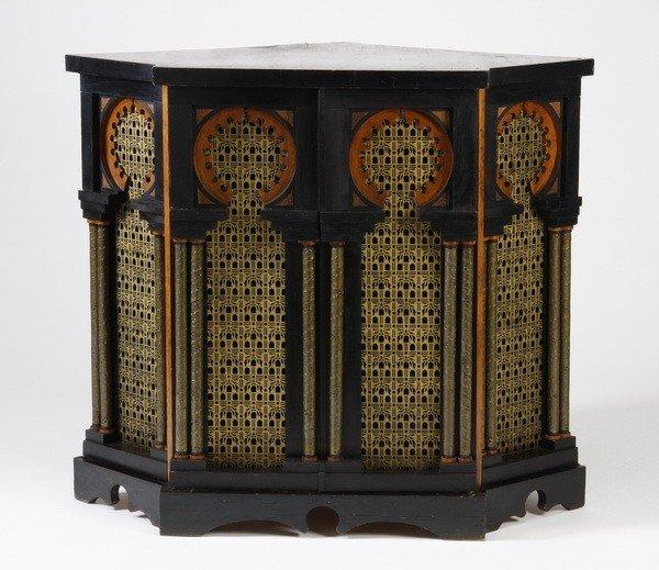 367: Rare corner cabinet designed by Carlo Bugatti