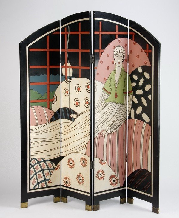 447: Art Deco style room divider