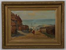 499 19th c Continental oil on canvas signed