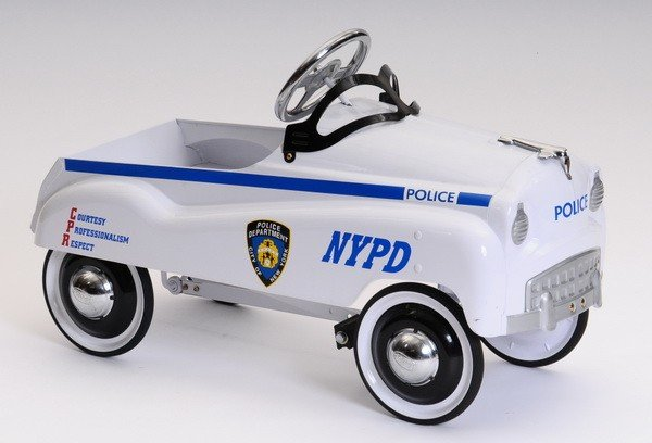 506: Late 20th c. 1950's style NYPD pedal car