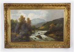 217 Early 20th c oil on canvas signed Olbrich