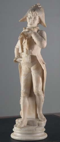 201: Carved Marble Italian Sculpture Signed Cipranni