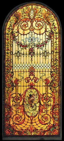 223: Antique Stained Glass Window Third Street Studio