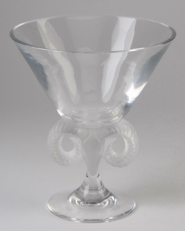 1: 20th c. Lalique footed compote