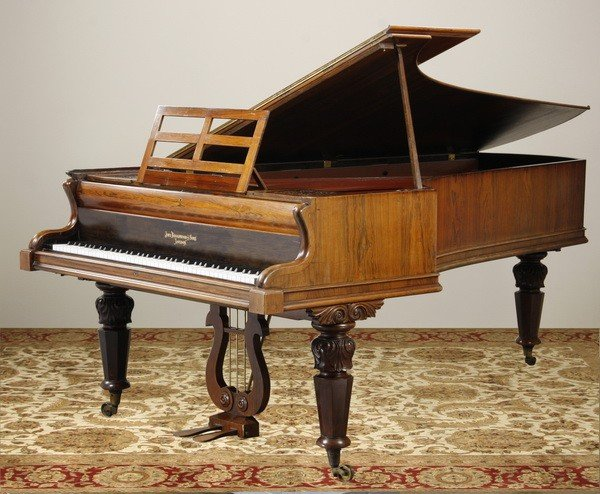 11: 19th c. English rosewood piano