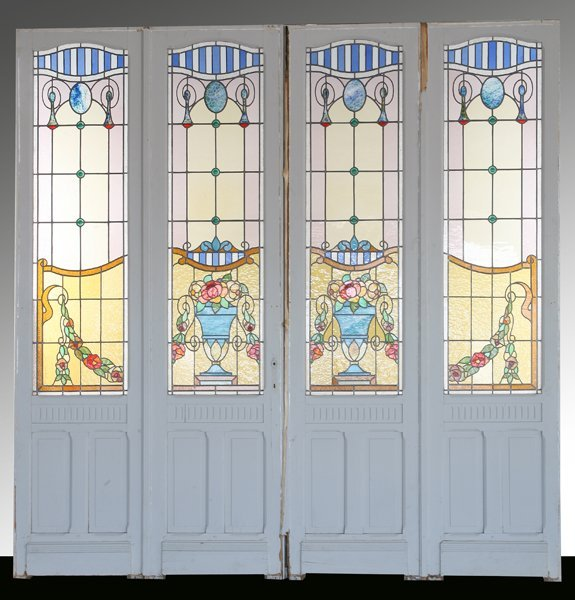 14: 19th c. French stained glass entryway