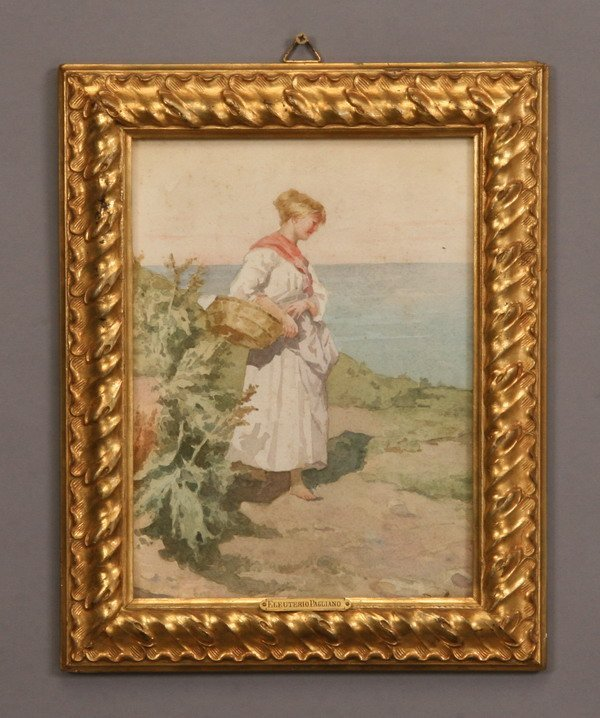 20: 19th c. Italian watercolor, signed Pagliano