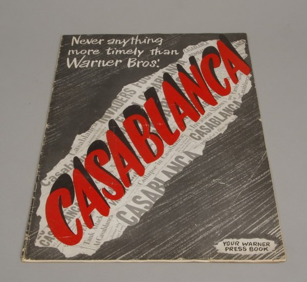 "37: Original ""Casablanca"" press book"