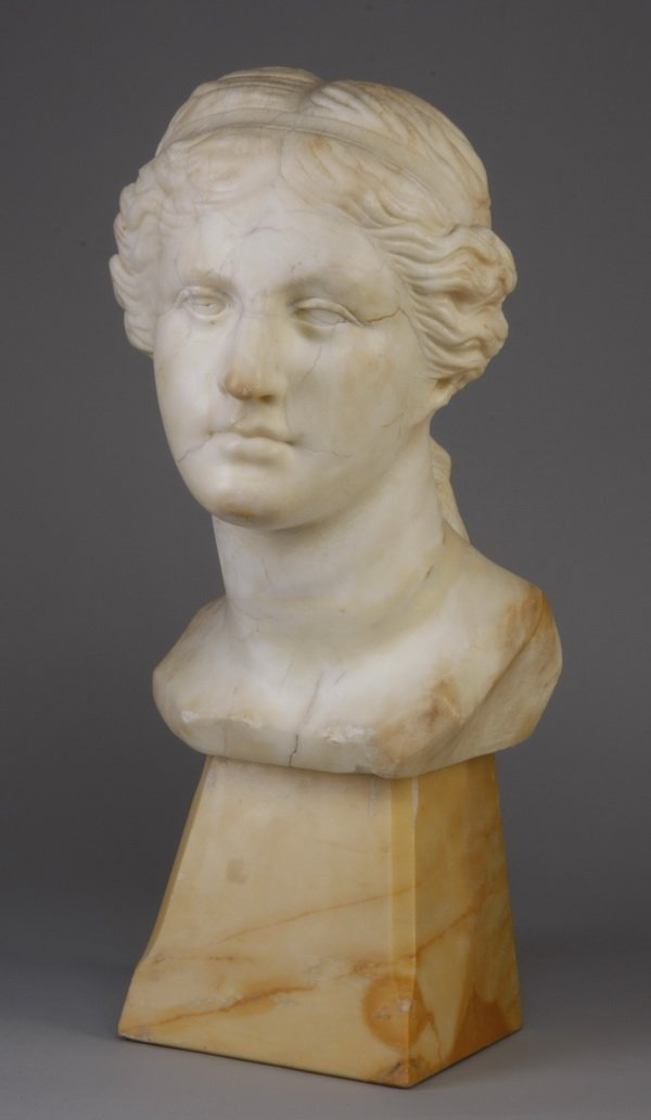 1: Early 19th c. carved marble bust