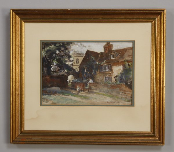14: Early 20th c. British watercolor, signed