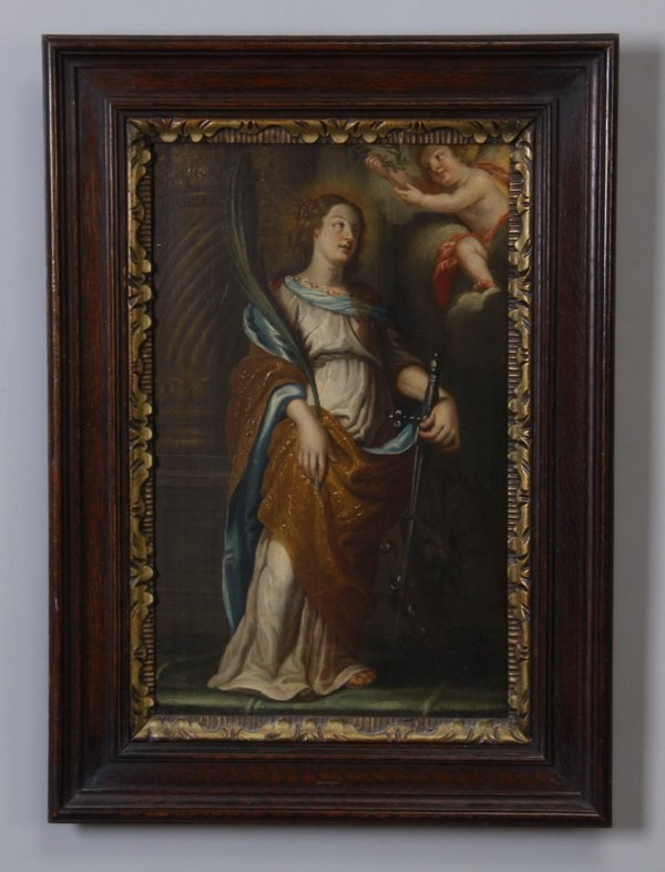 20: Late 18th c. Continental oil on panel