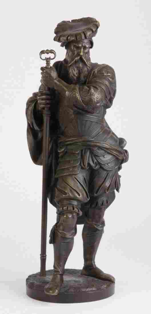 35: 19th c. bronze sculpture, signed Carrier