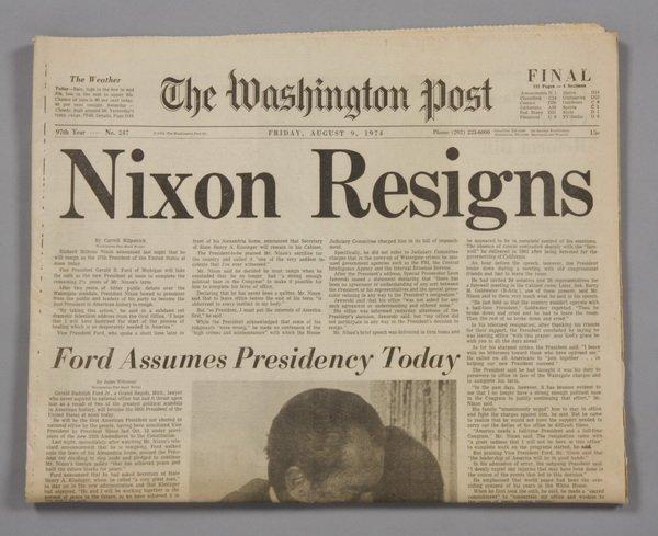 8: Original copy of the Washington Post