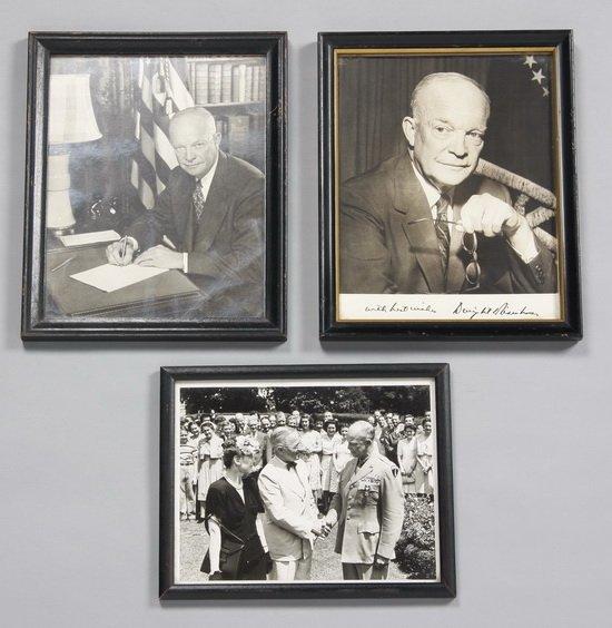 10: Eisenhower White House photos, 1 signed