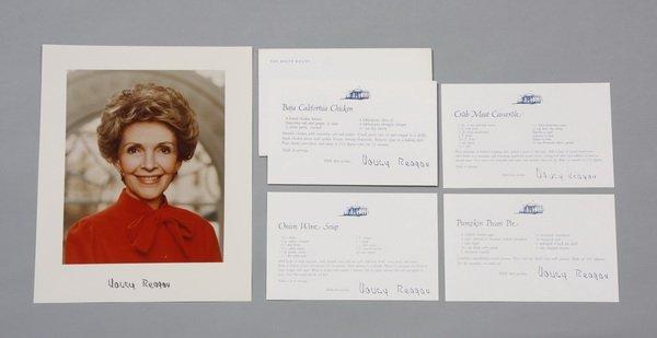 15: Nancy Reagan mementos w/ signed photo