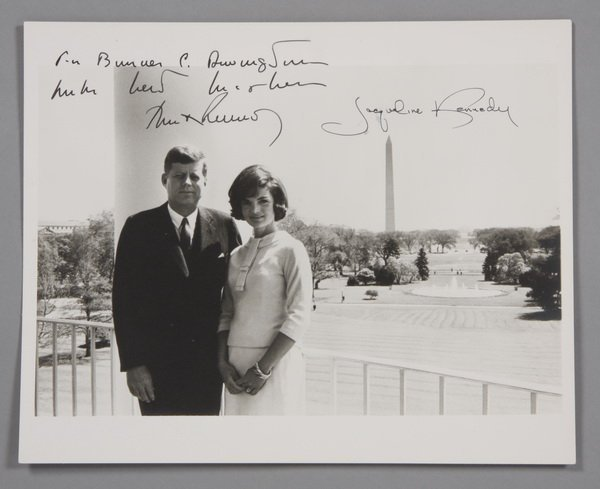 17: President and Mrs. Kennedy signed photo