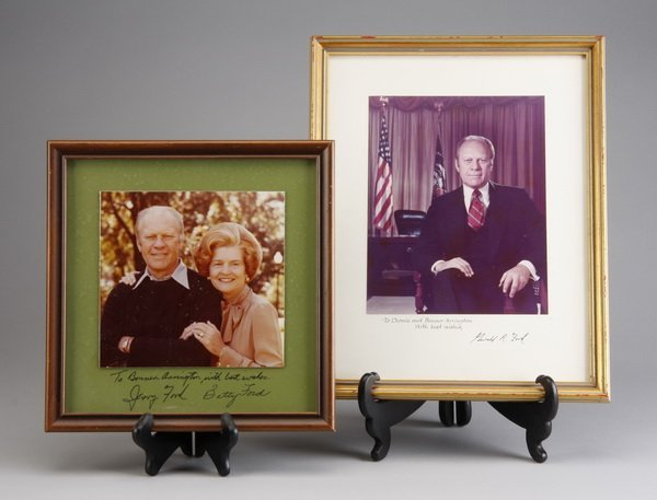 18: President and Mrs. Ford photos, signed