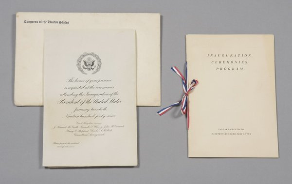 19: President Truman's Inauguration invitation