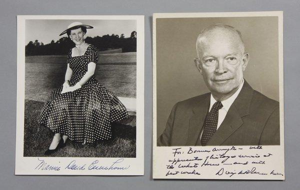 43: President and Mrs. Eisenhower photos, signed