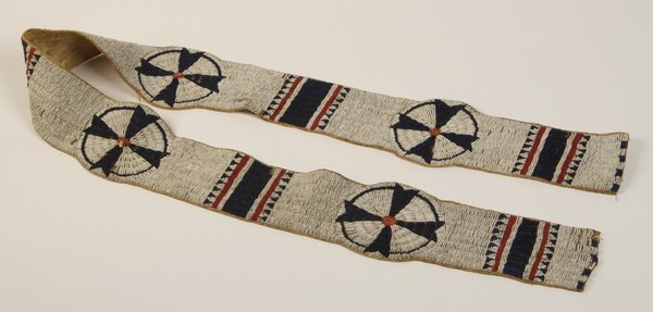 3: 19th c. Sioux Indian beaded blanket strip