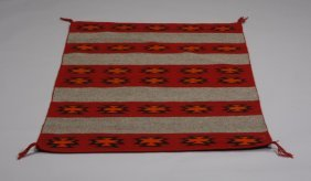 4: Early to mid 20th c. Navajo banded rug
