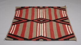 6: Navajo Third Phase Chief's blanket style rug