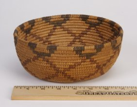 Early 20th C. Mission Coiled Basket