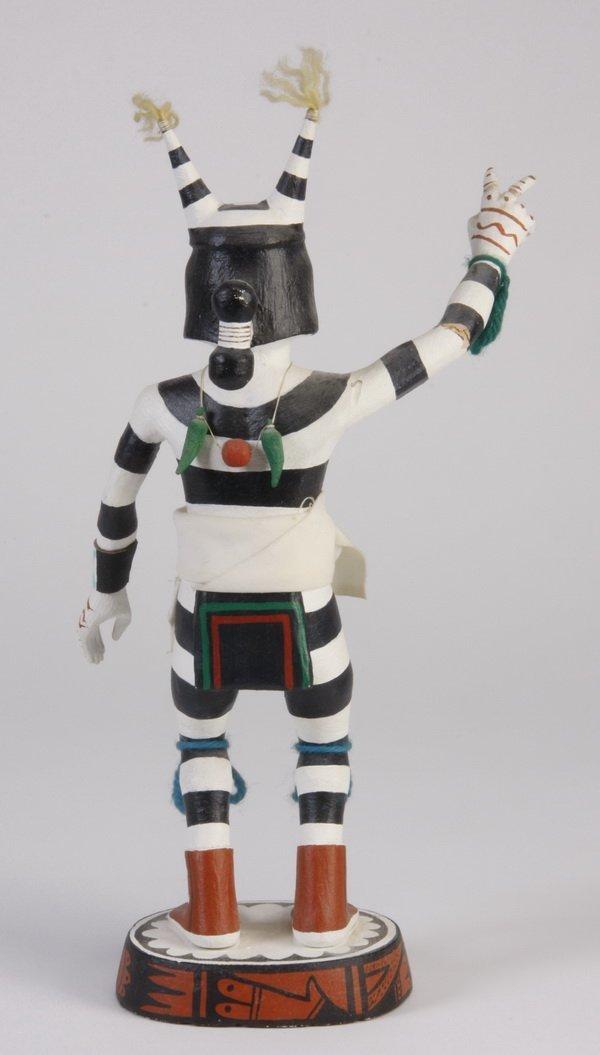70: Late 20th c. Hopi clown kachina, by Pooyouma - 2