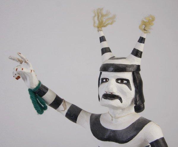 70: Late 20th c. Hopi clown kachina, by Pooyouma - 3