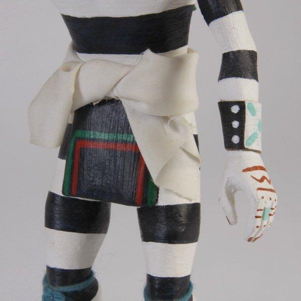 70: Late 20th c. Hopi clown kachina, by Pooyouma - 4