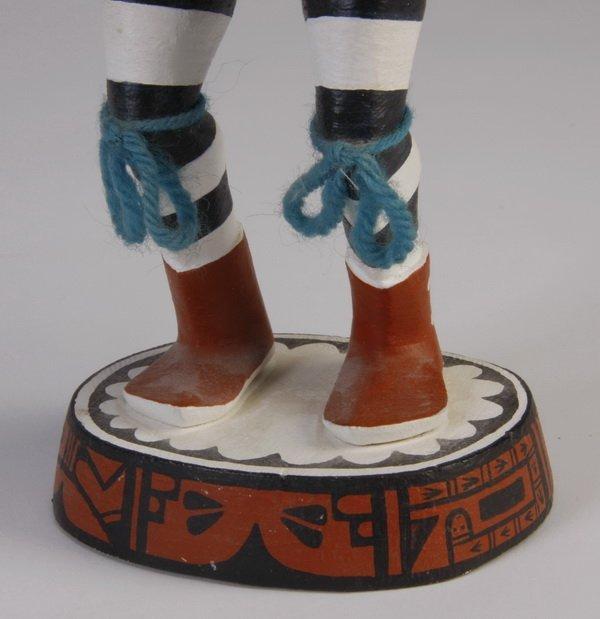 70: Late 20th c. Hopi clown kachina, by Pooyouma - 5