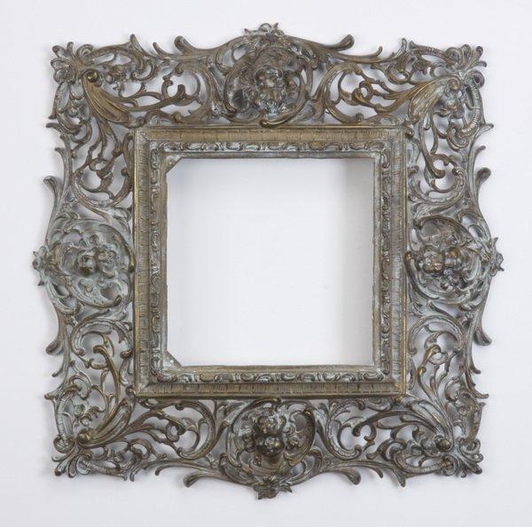 1: 19th c. bronze frame